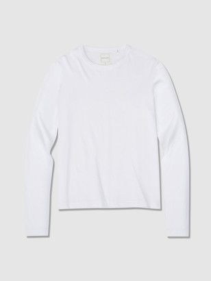 Jason Scott L/S Shrunken Crew Lightweight Jersey - White