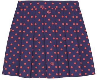 Gucci Kids Polka-dot cotton-blend skirt