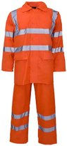 Forever Hi Viz Waterproof Rainsuit Set High Vis Visibility Jacket & Trouser