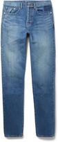 Saint Laurent - Slim-fit 17cm Hem Washed-denim Jeans