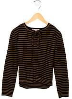Bonpoint Girls' Wool Striped Cardigan