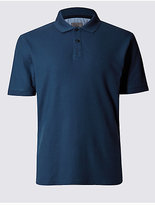M&S Collection Slim Fit Pure Cotton Polo Shirt
