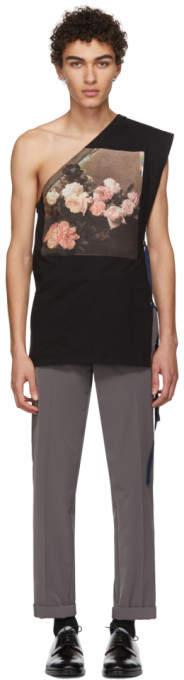 Raf Simons Black Asymmetric T-Shirt