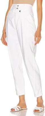 Frame Twisted Trouser in Blanc | FWRD