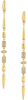 Etho Maria Noble 18K Yellow Gold & Brown Diamond Drop Earrings