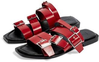 Topshop Felix Strappy Buckle Slide Sandal