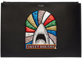 Saint Laurent Black Sweet Dreams Shark Document Holder
