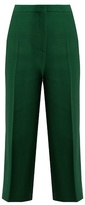 Rochas Crepe cropped wide-leg trousers