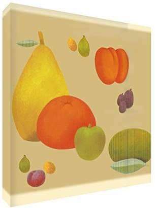 Camilla And Marc Feel Good Art Print Brightly Coloured Artist's from Val Johnson Bowl Fruit 96 x 96 x 4 cm, Size XXL