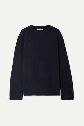 The Row Sibel Oversized Wool And Cashmere-blend Sweater - Midnight blue