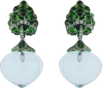Arunashi Flower Fruit Earrings