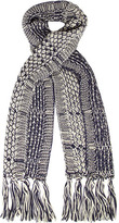 Dorothy Perkins Navy 2 tone chunky scarf