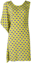 MSGM asymmetric printed dress - women - Silk - 44