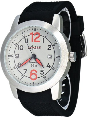 Nautec No Limit Men's Automatic Watch Monsoon MO at/RBSTSTGY-RD with Rubber Strap