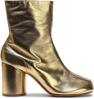 Maison Margiela Tabi Split-toe Metallic Leather Ankle Boots