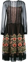 Alberta Ferretti floral embroidered sheer dress - women - Silk/Polyamide/Acetate/other fibers - 38