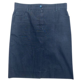 Louis Vuitton Blue Cotton Skirt for Women Vintage