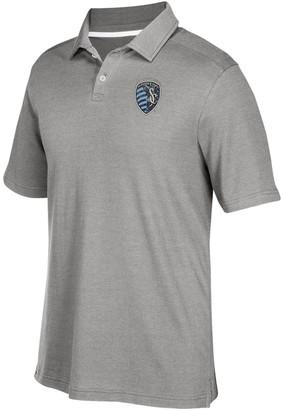adidas Men's Gray Sporting Kansas City Team Logo Polo