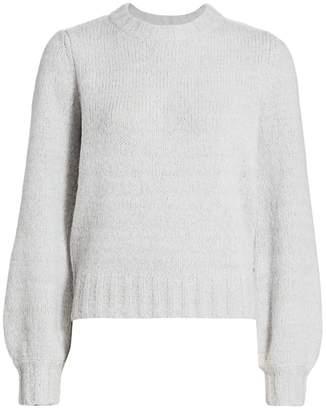 Rails Sybil Puff-Sleeve Cashmere, Alpaca & Wool-Blend Knit Sweater