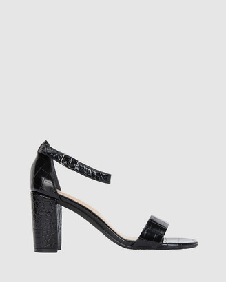 Sandler - Women's Black Heeled Sandals - Juliet - Size One Size, 7 at The Iconic