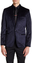 Ben Sherman Concrete Velvet Single Button Shawl Lapel Jacket