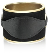 House Of Harlow Leather and Suede Cuff in Black