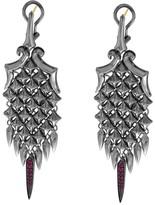Stephen Webster 925 Sterling Silver & 14K Gold Ruby Superstud Drop Earrings