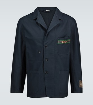 Gucci Cotton jacket with cardboard labels