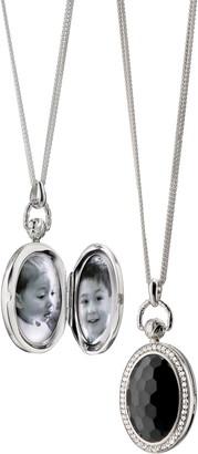 Monica Rich Kosann Rock Crystal Locket Necklace