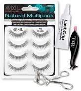 Ardell Fake Eyelashes Value Pack - Natural Multipack 110 (Black), LashGrip Strip Adhesive, Dual Lash Applicator - Everything You Need For Perfect False Eyelashes