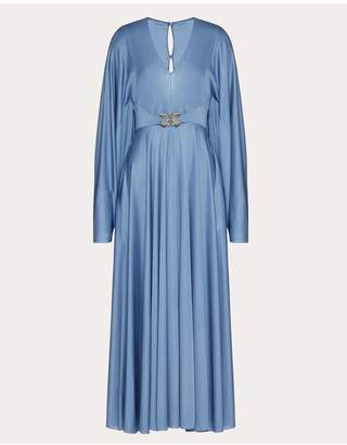 Valentino Fluid Jersey Dress With Griffins