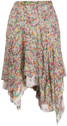 Isabel Marant Myles floral-print skirt