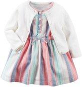Carter's Cardigan Dress Set (Baby) - Ivory - Newborn