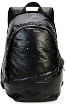 Maison Margiela Men's Creased Nylon Double-Zip Backpack, Black