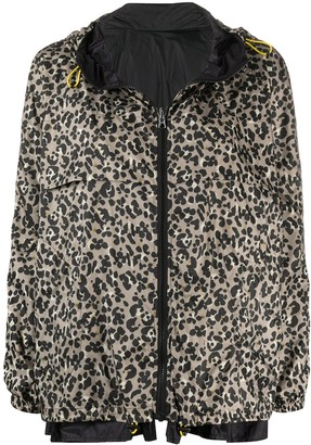 Seventy Hooded Leopard Print Jacket