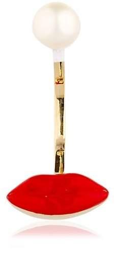 Delfina Delettrez Lips & Pearl Mono Earring