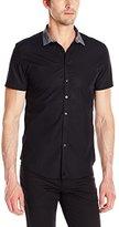 Calvin Klein Men's One Space Dye Short-Sleeve Shirt