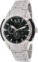 Armani Exchange A|X Men's AX1213 Silver Stainless-Steel Quartz Watch with Dial