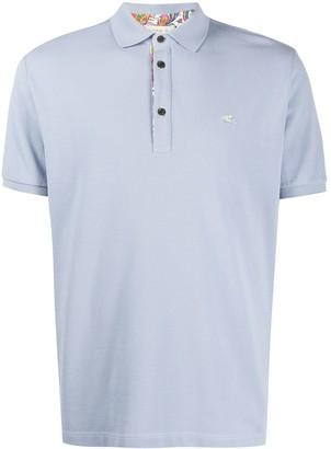 Etro Contrast Logo Polo Shirt