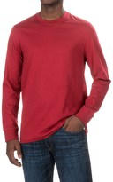 Specially made Solid Knit Shirt - Crew Neck, Long Sleeve (For Men)