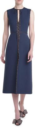 Fendi Sleeveless Keyhole Dress