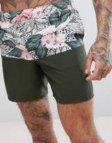 Asos Swim Short In Cut And Sew Floral Mid Length