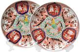 One Kings Lane Vintage Antique Imari Plates - Set of 2 - Portfolio No.6 - multi/gold/white