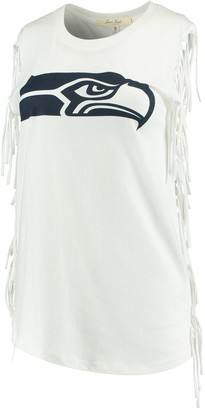 Junk Food Clothing Unbranded Women's White Seattle Seahawks Fringe Tank Top