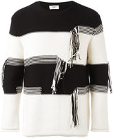 Ports 1961 striped thread detail jumper - men - Cotton/Polyamide - L