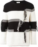 Ports 1961 striped thread detail jumper - men - Cotton/Polyamide - XS