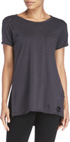 Lush Distressed Pocket Tee
