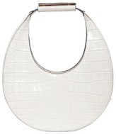 STAUD Moon Croc-Embossed Leather Hobo Bag