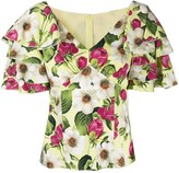 Dolce & Gabbana rose-print short-sleeved blouse