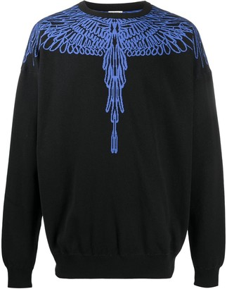 Marcelo Burlon County of Milan Pictorial Wings jacquard jumper